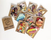 6 Comic Book Tags | Gift Tags | Birthday Gift Tags | Wedding Gift Tags| Vintage Re-purposed Recycled Upcycled