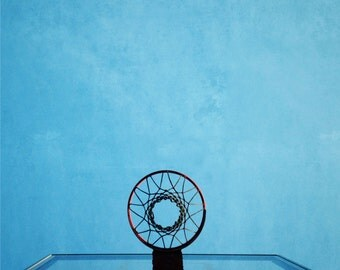 Basketball Hoop Sports Fathers Day  Photograph Boys Room - 12 x 12 art print by Dawn Smith