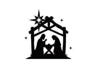 Waterslide Nail Decals Set of 20 - Holiday Christmas Nativity Scene Jesus