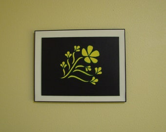 Original Acrylic Painting of Yellow Flower