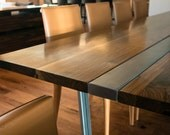Custom Listing // Nikki IL // Expandable Walnut 'Bueller' Dining Table // Powder-coated Steel