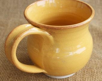 Small pottery mug, unique, stoneware, wheel thrown, ready to ship