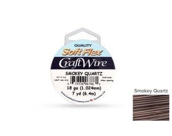 Craft Wire Soft Flex 18gauge Smokey Quartz 7yards  - 1 Spool Save Big (4762)/1