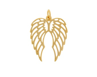 24Kt Gold Plated Sterling Silver 25.5x17mm Double Wing Charm - 1pc High Quality Made in Thailand 10% discounted (4912)/1