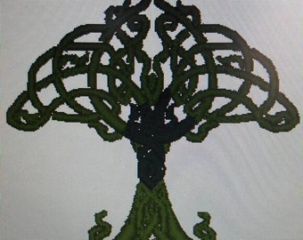 Celtic tree fairy medieval embroidery for custom linen shirts