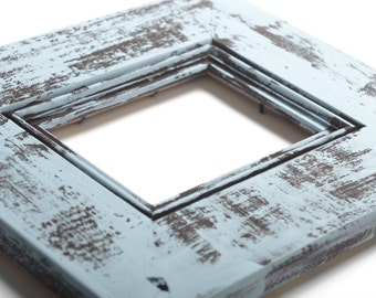 8x10 Antique Rustic Barnwood Farmhouse Picture Frame-Distressed Blue-Vintage-Distressed Picture Frame- Wood Picture Frame