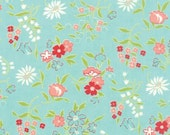 Vintage Picnic Aqua Playful Flowers 55125 12 by Bonnie & Camille for Moda