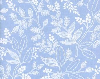 Les Fleurs Queen Anne Pale Blue by Ana Bond Rifle Paper for Cotton + Steel