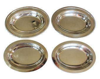 Two Matching Silverplate Oval Covered Vegetable Dishes