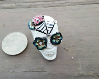 Day of the Dead Sugar Skull Statement Ring