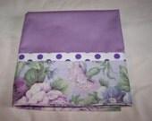 Standard size Pillow Case - Pillow Case - Purple Pillow Case -- Standard Pillow Case - French Seams Pillow Case - Single Pillow Case