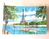 CLOSING DOWN SALE - 50% Off Vintage French Eiffel Tower Paris Tea Towel