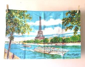 Vintage French Eiffel Tower Paris Tea Towel