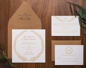 Wedding anniversary invites - laurel wreath design