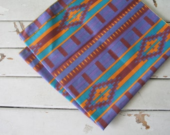 Vintage AZTEC Urban Indie Scarf Bandana....colorful. hipster. retro scarf. 1980s. mod. head. neck. groovy. bold. bandana. desert. western