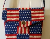 Reversable Padded Patriotic Messenger Bag