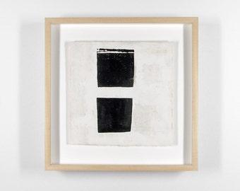 2 Cups, 1 Lid - original framed encaustic drawing on paper