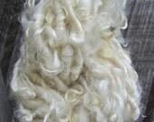 Handspun Curly Yarn Leicester Longwool Natural
