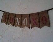 XOXOXO Burlap Banner