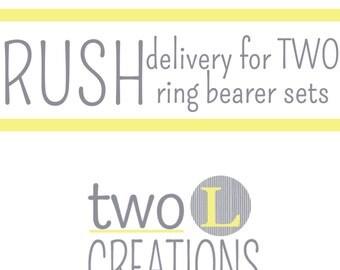 Rush Order Fee for TWO Ring Bearer Set
