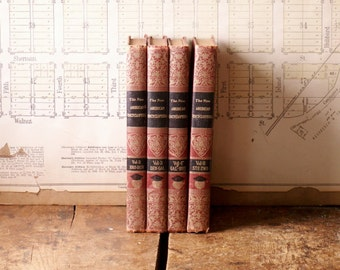 Vintage Encyclopedias - Red Book Set - Literary Decor