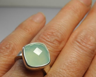 Flora Ring - aquamarine