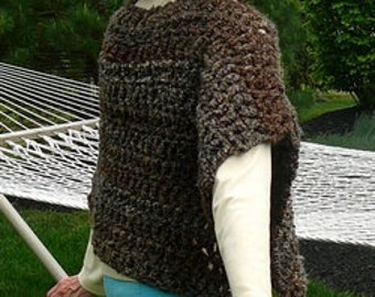 CROCHET PATTERN: Capelet - a capelet (or poncho) pattern for women and girls - Instant Download
