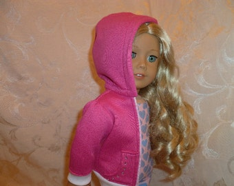 18 Inch Doll Pink Ballerina Warm-up Hoodie for Isabelle