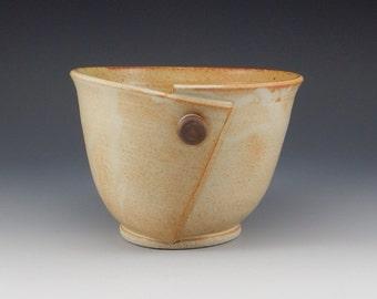 Handmade Pottery Button Bowl