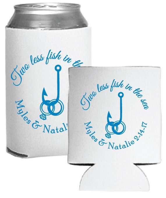 Personalized Wedding Favors Beer Coolers Custom Two Less