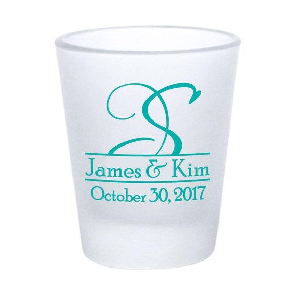 Wedding Favor Boxes For Shot Glasses : Wedding Favors Shot Glasses 120 Custom 1.5oz Frosted Glass Shot Glass ...