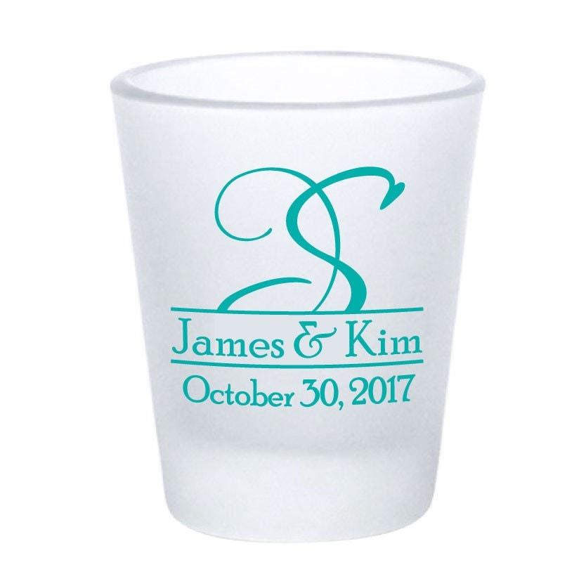 wedding favors shot glasses 120 custom frosted glass