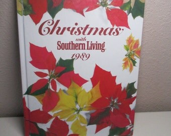 Vintage Christmas With Southern Living Cookbook- 1989