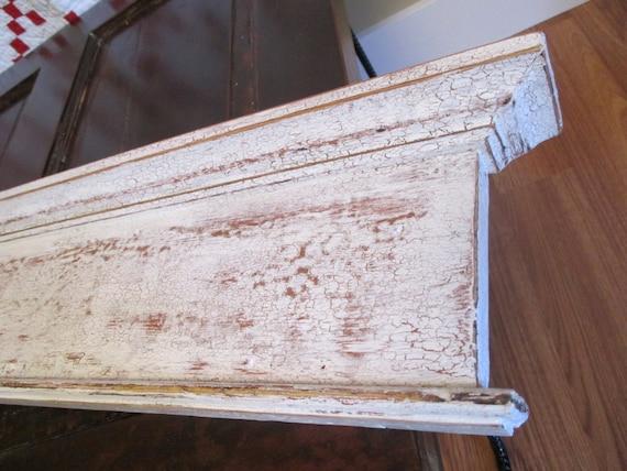 Antique Distressed Door Header Moulding Mantel Shelf Skinny