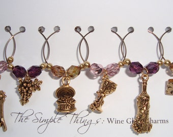 WineLovers Wine Glass Charms - Firepolish