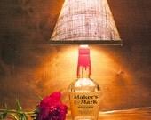 Maker's Mark Whiskey Bottle Lamp 750ml Free US Shipping