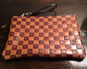 Mens Pouch - Beautiful dark brown distressed leather