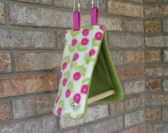Handcrafted Cozy Bird Tent with Perch, Anti-Pill Fleece for  Canaries, Lg. Finches, Parakeets, Parrotlets.
