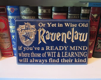 Engraved CNC Carved Wall Decor Sign - Harry Potter - Hogwarts House Ravenclaw - Muggle - Dumbledore - Quidditch J.K. Rowling Wizard