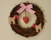 EASTER/MOTHER'S DAY-Large Goat Wreath-by Happy Goat
