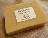 TEA TREE E/O-Happy Goat-goat milk soap-Bath/Shower Bar