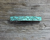 Spring Sale 10% Cherry Blossom Large Hair Barrette in copper with blue green patina