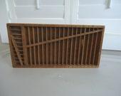 Vintage box, wood box, rule case, compact rule case, wood display case, Antique Printer's Compact Rule Case