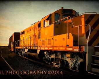 Train Railroad Railway Western Rustic Fine Art Photography Southwest Wall Art
