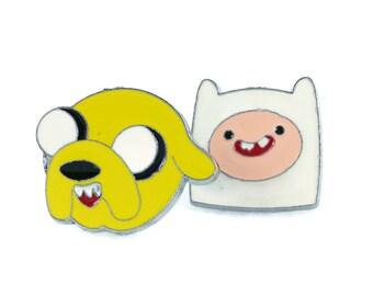 Adventure Time Cufflinks - Finn and Jake Cufflinks Cartoon Cufflinks Finn Cufflinks Jake Cufflinks