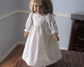 "Reserved for Ellen - Doll Nightgown, Bonnet and Bloomers for 12.5"" Doll"