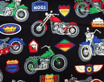 """Harley MOTORCYCLE Fabric - Chopper & Hogs Softail - Cruisers - Road Hogs - Leather Forever + More  """""""""""