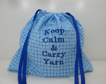 Project Bag - Keep Calm and Carry Yarn