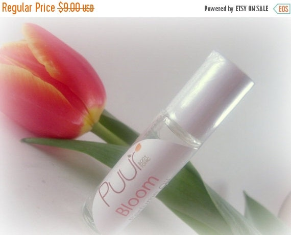 ON SALE Perfume Oil - Bloom - Roll On Floral Perfume Spring Fragrance glass bottle