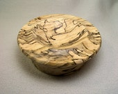 Spalted Hackberry Spindle Bowl 3.5 by 1.25 inches